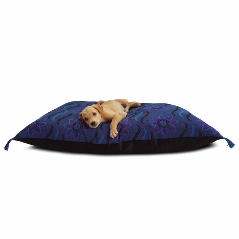 Waterproof Dog Bed Purple & Blue Print | Luxury Dog Beds On Prazuchi