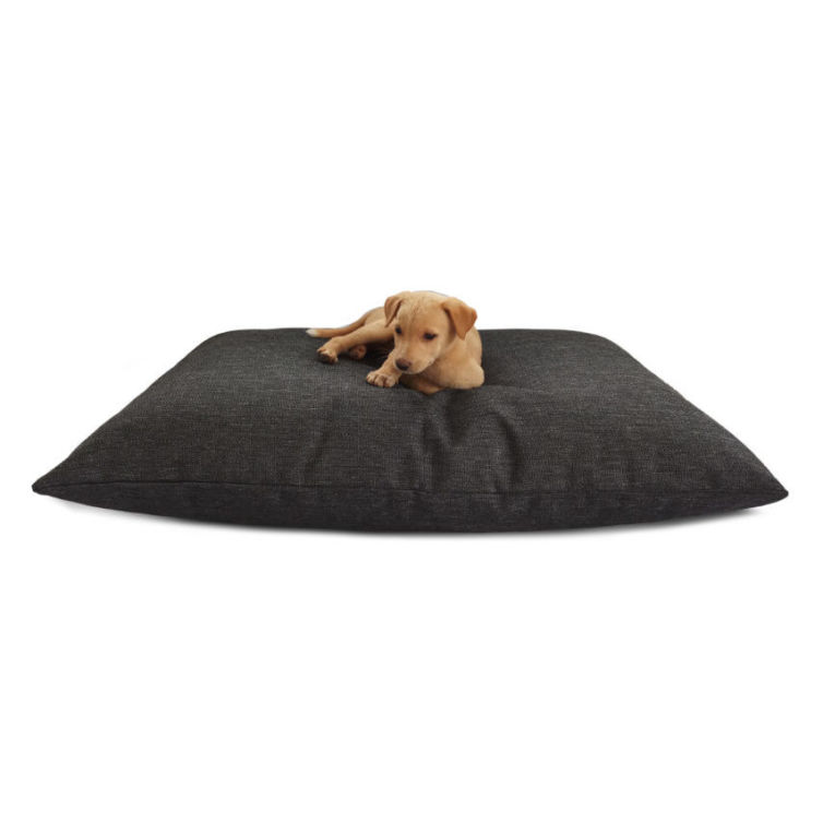 Grey Jute Large Waterproof Dog Bed
