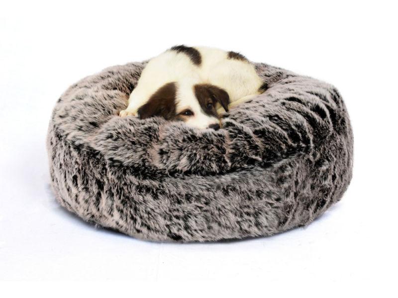 Fur Dog Bed Grey - 2 Colors - Prazuchi