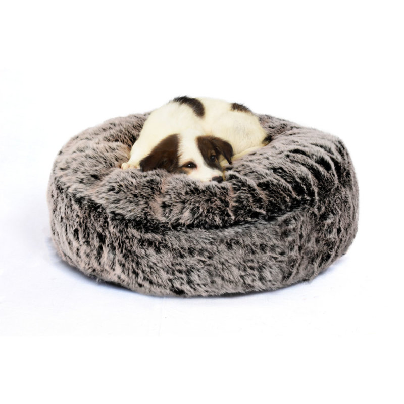 Fur Dog Bed Grey - 2 Colors - Prazuchi