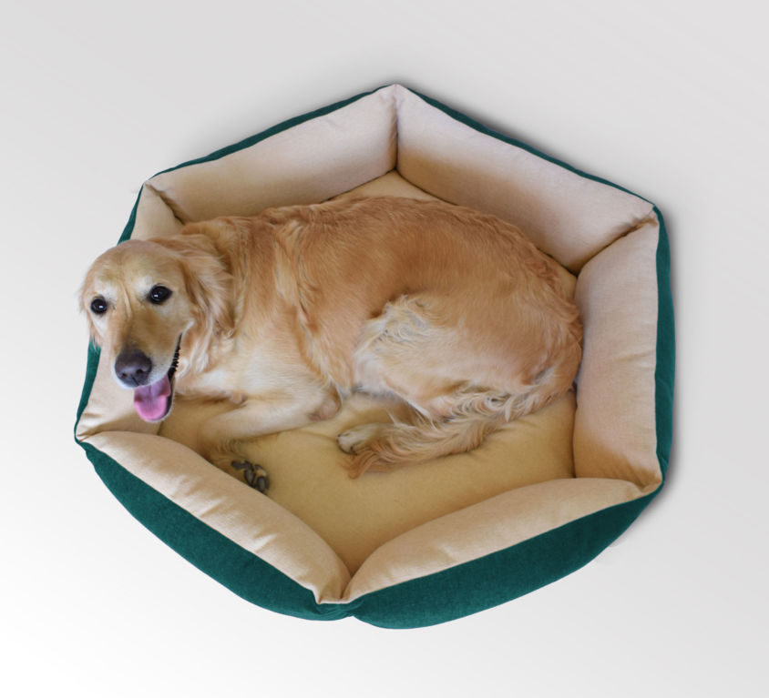 Hexagonal Bolster Dog Bed