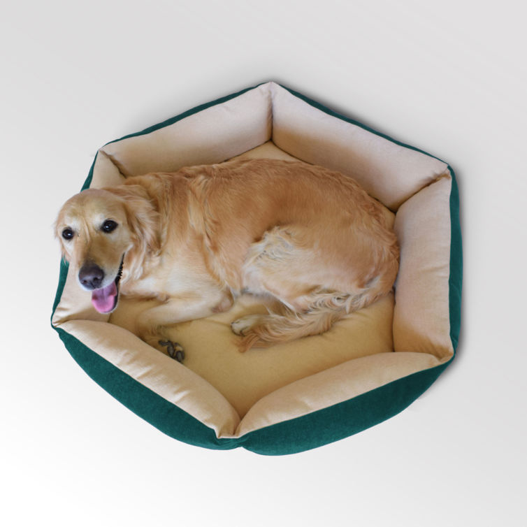 Hexagonal Bolster Dog Bed